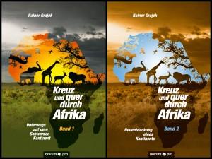 cover band 1 und 2 kreuz und quer durch afrika rainer grajek